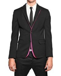 DSquared2 Stretch Wool Cady and Neon Piping Jacket - Lyst
