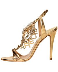 DSquared² 120mm Laminated Leather Logo Sandals - Lyst