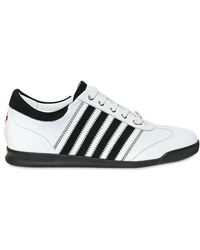 DSquared² Suede Leather Stripe Sneakers - Lyst