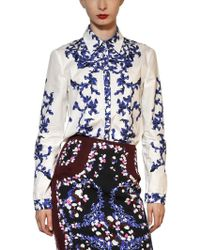 Erdem Printed Cotton Poplin Shirt - Lyst