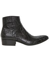Gianni Barbato - Python Leather Low Boots - Lyst