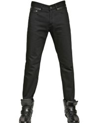 Givenchy 18.5Cm Leather And Cotton Slim Fit Jeans black - Lyst
