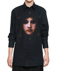 Givenchy Madonna Cotton Canvas Oversized Shirt black - Lyst