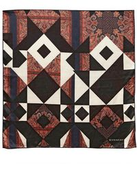 Givenchy Patchwork Print Light Silk Satin Scarf - Lyst