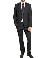 Givenchy One Button Checked Wool Suit - Lyst