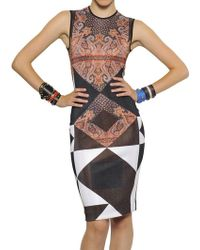 Givenchy Printed Viscose Knit Dress - Lyst