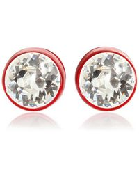 Givenchy Brass And Swarovski Earrings - Lyst