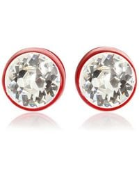 Givenchy Brass And Swarovski Earrings red - Lyst