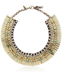 Iosselliani Crystal and Chain Necklace - Lyst