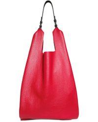 Jil Sander Grainy Leather Market Shoulder Bag - Lyst