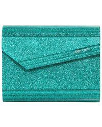 Jimmy Choo Candy Glitter Acrylic Clutch green - Lyst