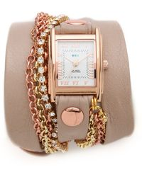 La Mer Collections - Crystal Chain Wrap Watch - Lyst