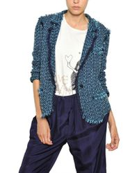 Lanvin Cotton Tweed Jacket - Lyst