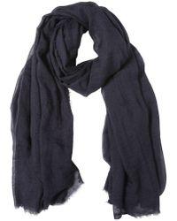 Lanvin Cashmere Silk Gauze Scarf blue - Lyst