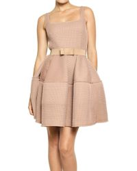 Lanvin Techno Net Baby Doll Dress - Lyst