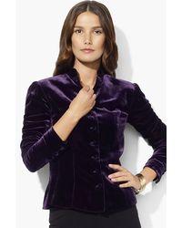 Lauren by Ralph Lauren Velvet Jacket  - Lyst