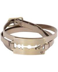 McQ by Alexander McQueen Silver Metallic Razor Triple Wrap Bracelet - Lyst