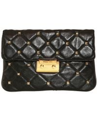 Michael by Michael Kors Sloan Hamilton Quilted Leather Clutch - Lyst
