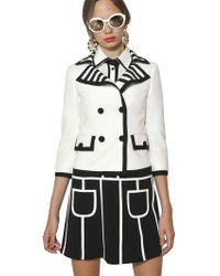 Moschino Stretch Techno Cady Jacket - Lyst