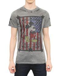 Philipp Plein Mickey American Flag Jersey Tshirt - Lyst