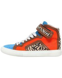 Pierre Hardy Animal Printed Leather High Top Sneaker - Lyst