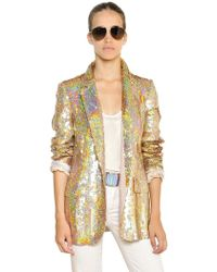 Stella McCartney Sequins On Silk Organza Jacket - Lyst