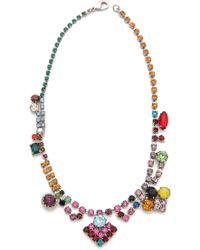 Tom Binns - Faux Real Multi Crystal Necklace - Lyst