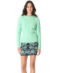 Torn By Ronny Kobo Kati Cable Knit Sweater - Lyst
