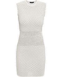 Alexander McQueen 3D Stripe Knitted Dress white - Lyst