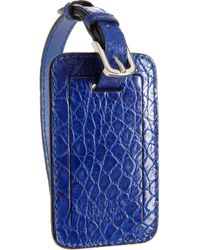 Barneys New York Crocodile Luggage Tag - Lyst