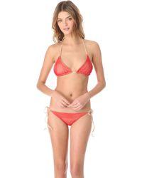Cali Dreaming - Reversible Triangle String Bikini - Lyst