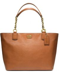 Coach Madison Leather Large Tote - Lyst