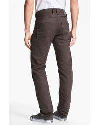 Diesel Braddom Slim Tapered Leg Jeans Deep Black - Lyst