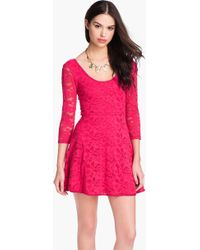 Free People Lace Mini Dress - Lyst