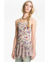 Free People Mixed Print Godet Slip Dress - Lyst