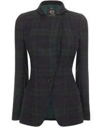 McQ by Alexander McQueen Black Watch Tartan Blazer - Lyst