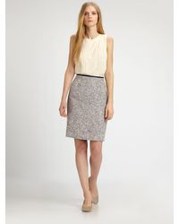 Tory Burch Tweed Emma Skirt - Lyst