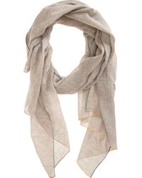 Barneys New York Multicolor Border Scarf - Lyst