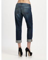 J Brand Aidan Cropped Boyfriend Jeans - Lyst