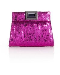 Kara Ross Sequin Clutch - Lyst