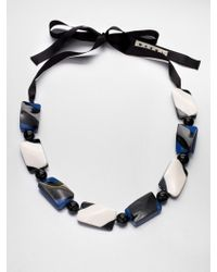 Marni Horn Resin Beaded Necklace - Lyst
