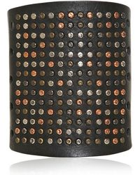 Pierre Balmain Studded Leather Bracelet - Lyst