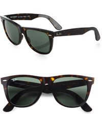 Ray-Ban Flat-Top Boyfriend Wayfarer Sunglasses black - Lyst