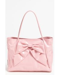 Valentino Betty Lacca Bow Small Tote pink - Lyst