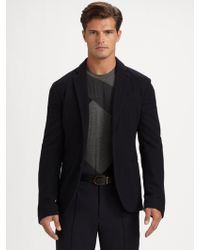 Armani Shawl Collar Jacket - Lyst