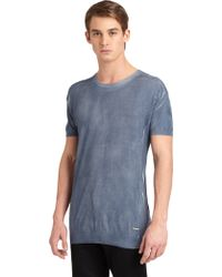 Costume National Short Sleeve Sweater - Lyst