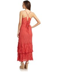 French Connection Embroidered Maxi Dress - Lyst