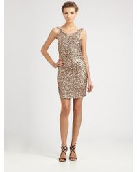 Laundry by Shelli Segal Sequined Dress - Lyst
