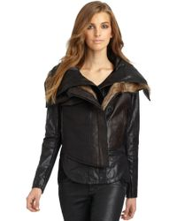 Nicholas K - Geo 3 Way Leather Jacket - Lyst