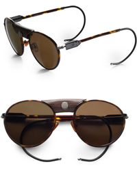 Proenza Schouler Metal Aviator Sunglasses brown - Lyst